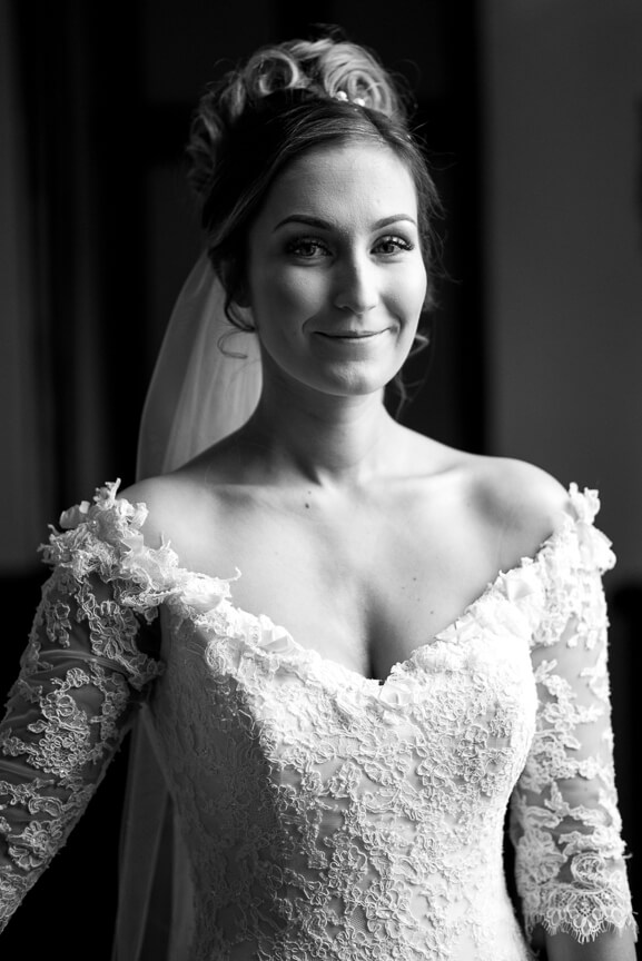 Bridal portrait at Holmbush House, sussex