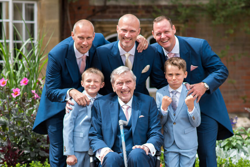 Groomsmen and Tylney Hall Wedding
