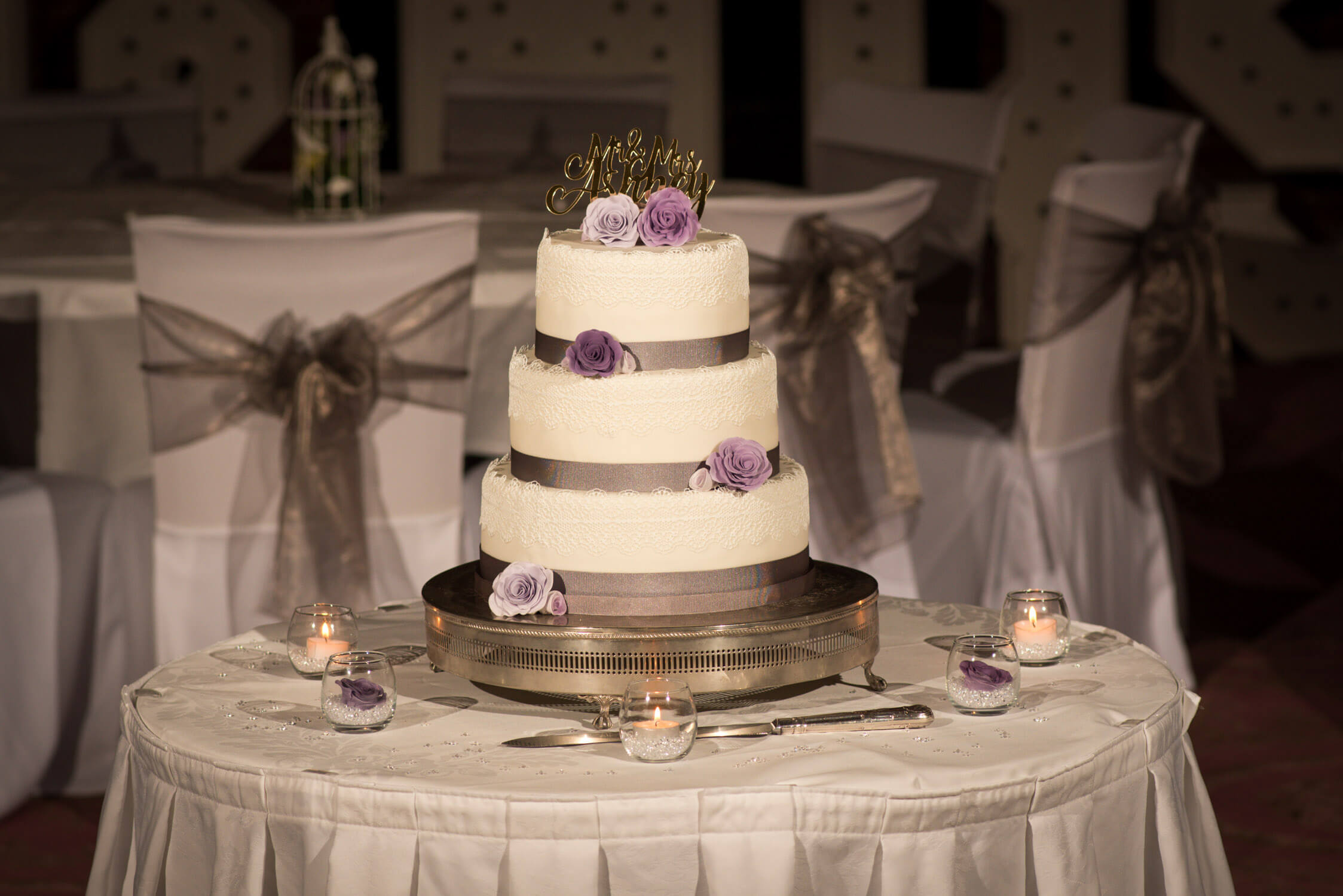 Wedding cake at Tylney Hall
