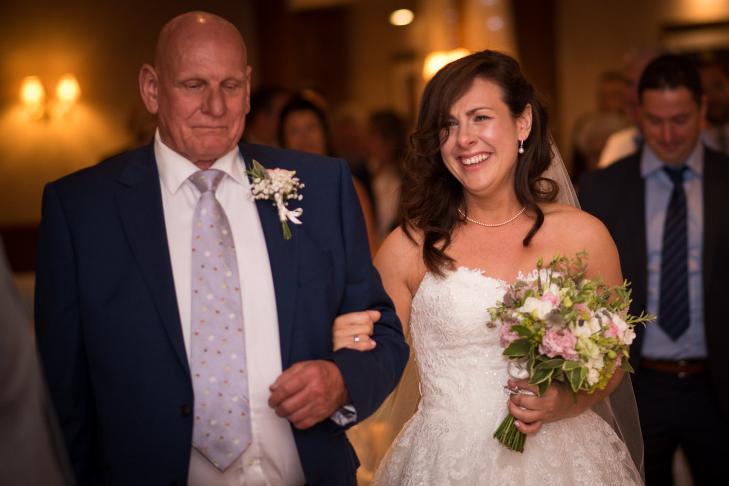 Bride at Ashdown Park Hotel, tears of joy