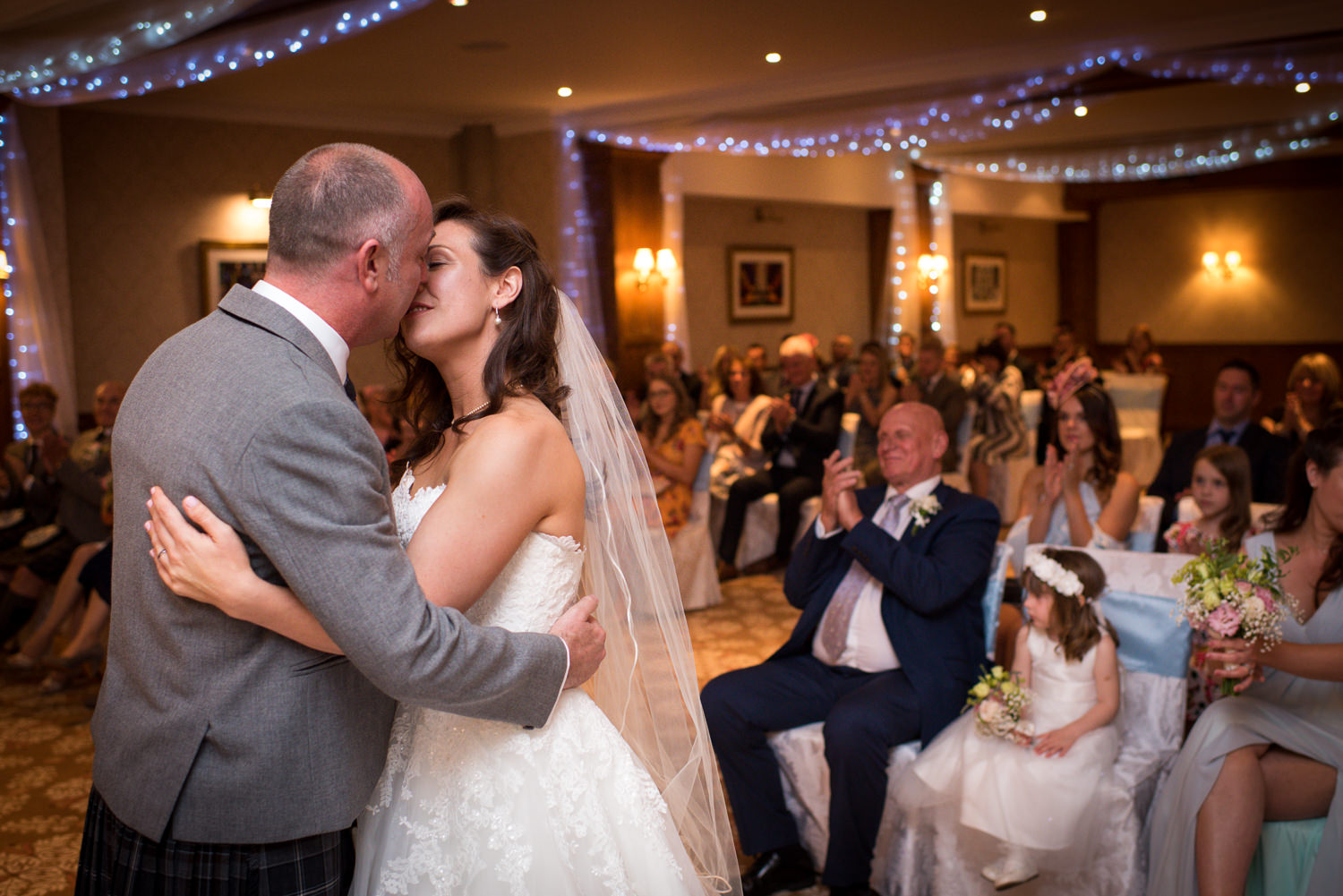 The kiss at Ashdown Park Hotel