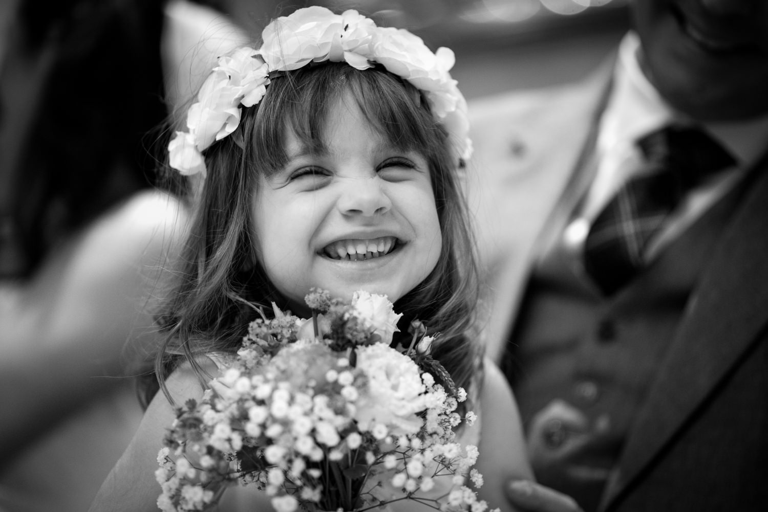Flower girl at Ashdown Park Hotel