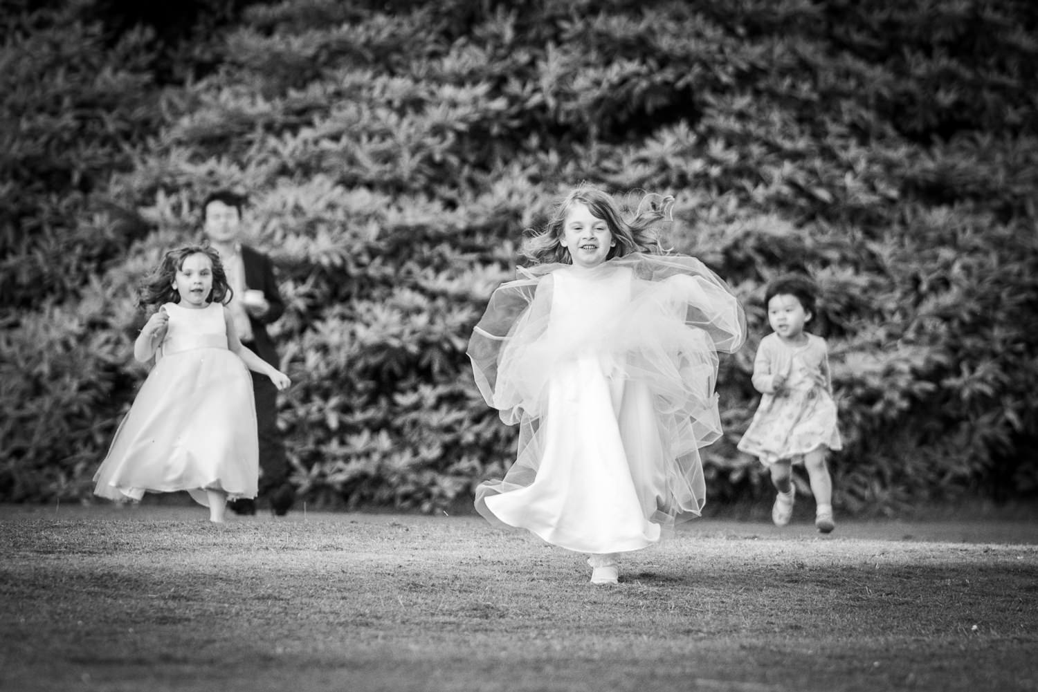 Children enjoy the space at Ashdown Park Hotel Wedding