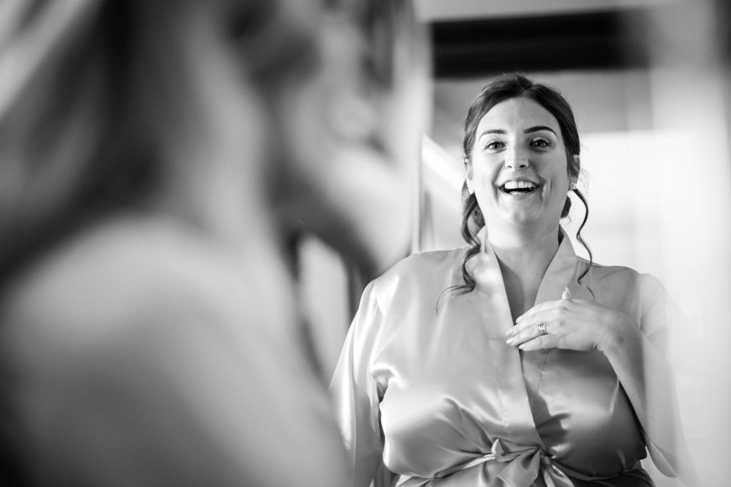 A second bridesmaid at Stoke Park Wedding