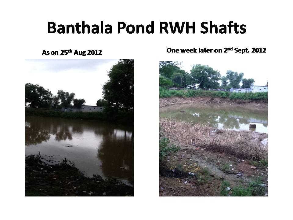 Banthala Pond Rain Water Harvesting