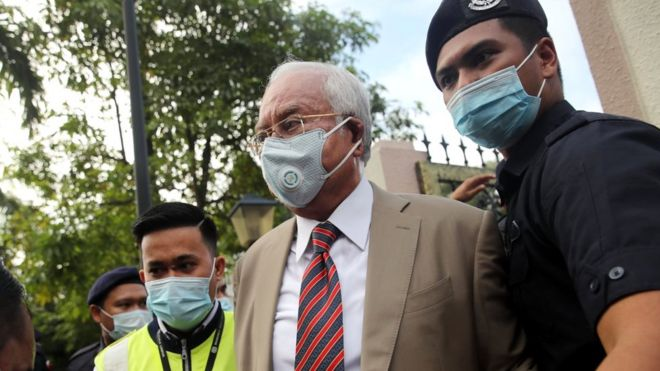 Najib Razak: Malaysian ex-PM gets 12-year jail term in 1MDB corruption trial (BBC News)