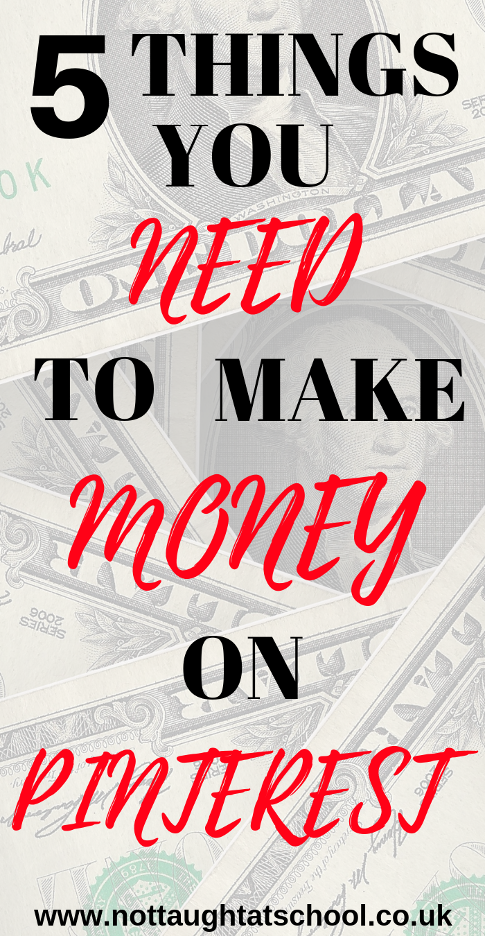 In this article we look at 5 things you need to profit and make money on Pinterest.