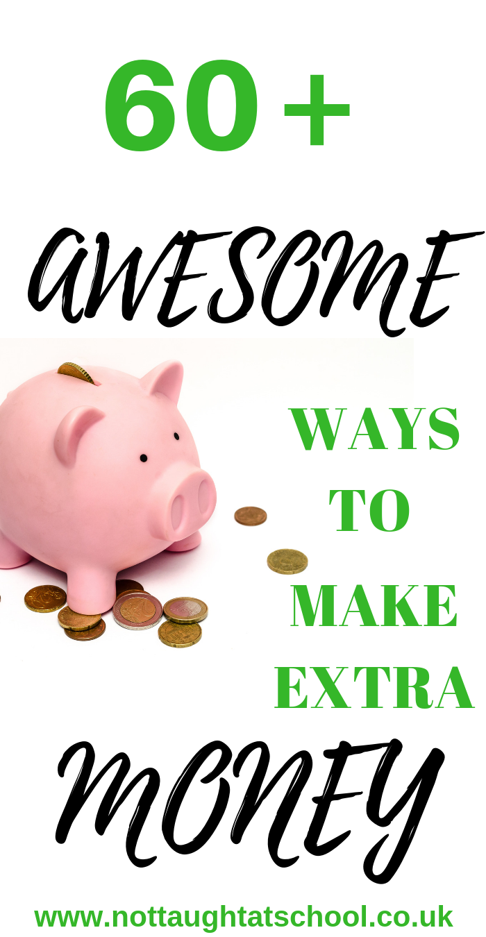 In this article I share over 60 AWESOME ways to make some extra money online and from home.