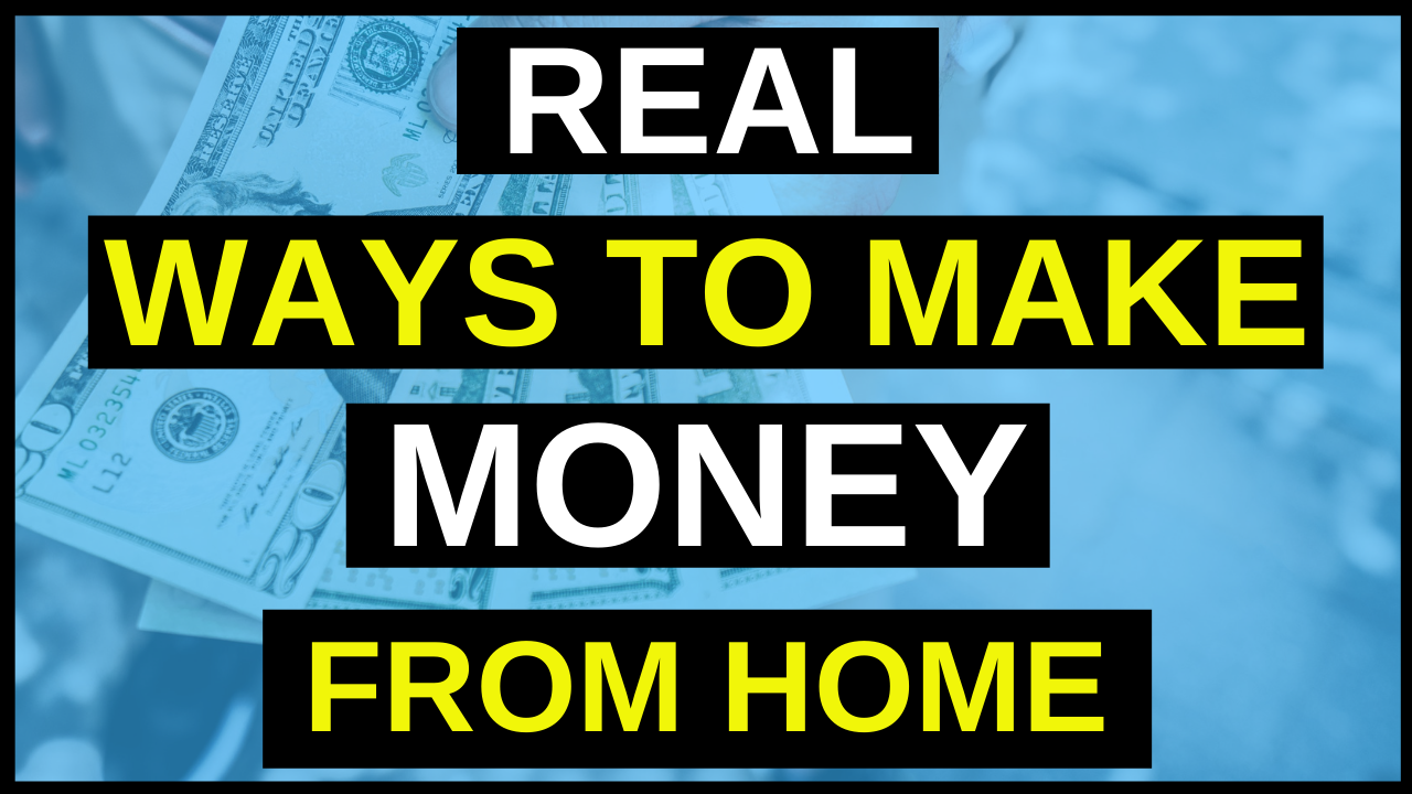 Simple ways you can make money from home starting today.