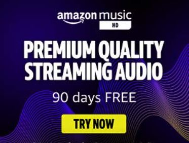 Get 90 Days Of Amazon Music For FREE.