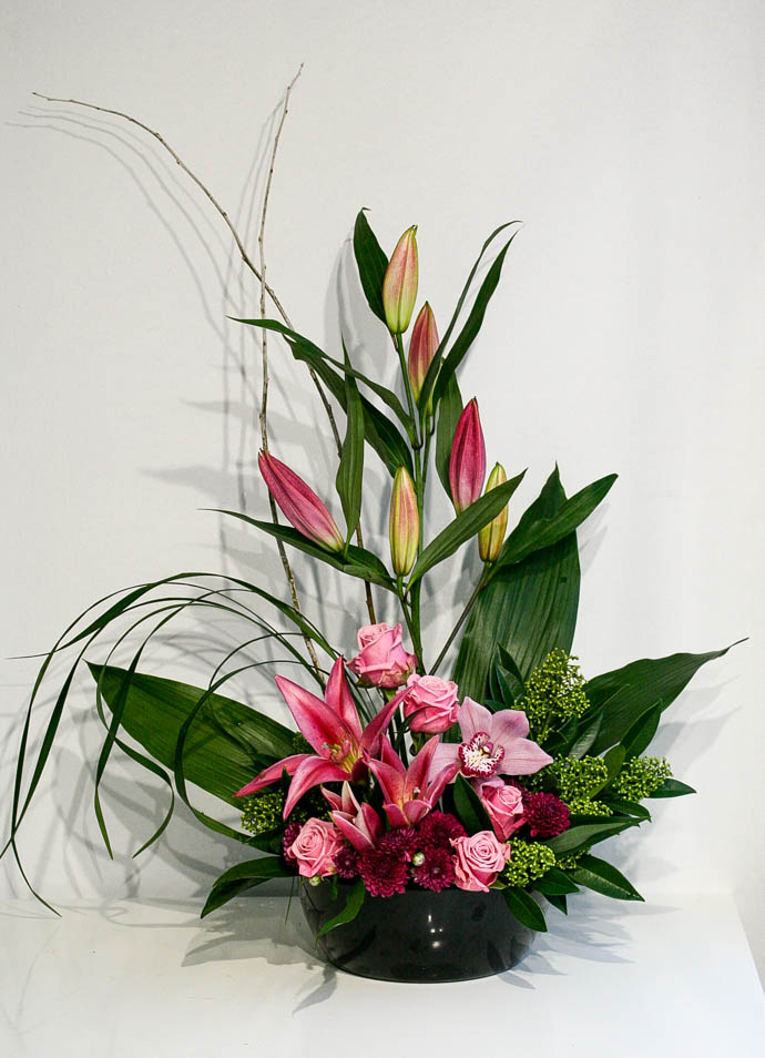Office reception flowers, created by north London florist Garland