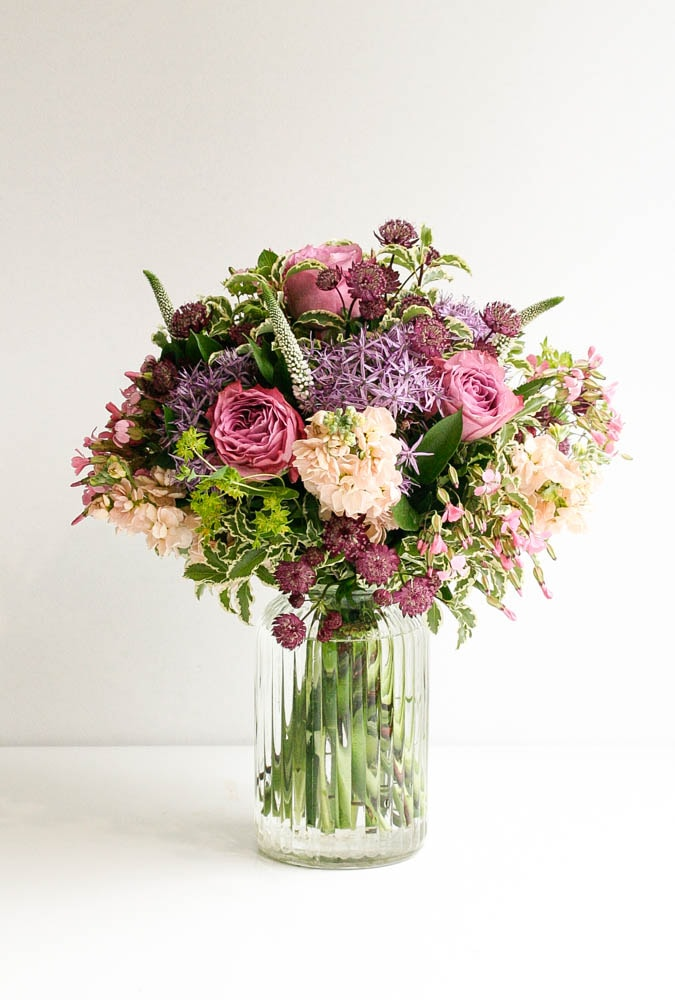 Alliums and roses for Fab Friday Flowers