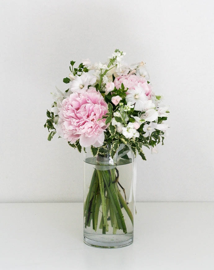 Pink and white bridesmaids bouquet
