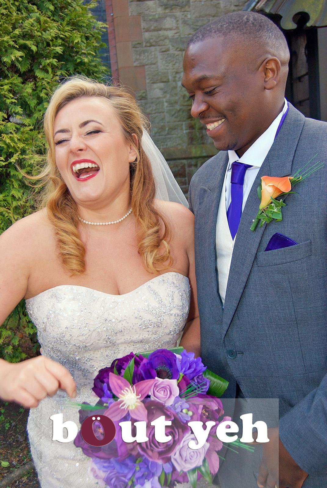 Brides and groom, Belfast. Photo 5710.