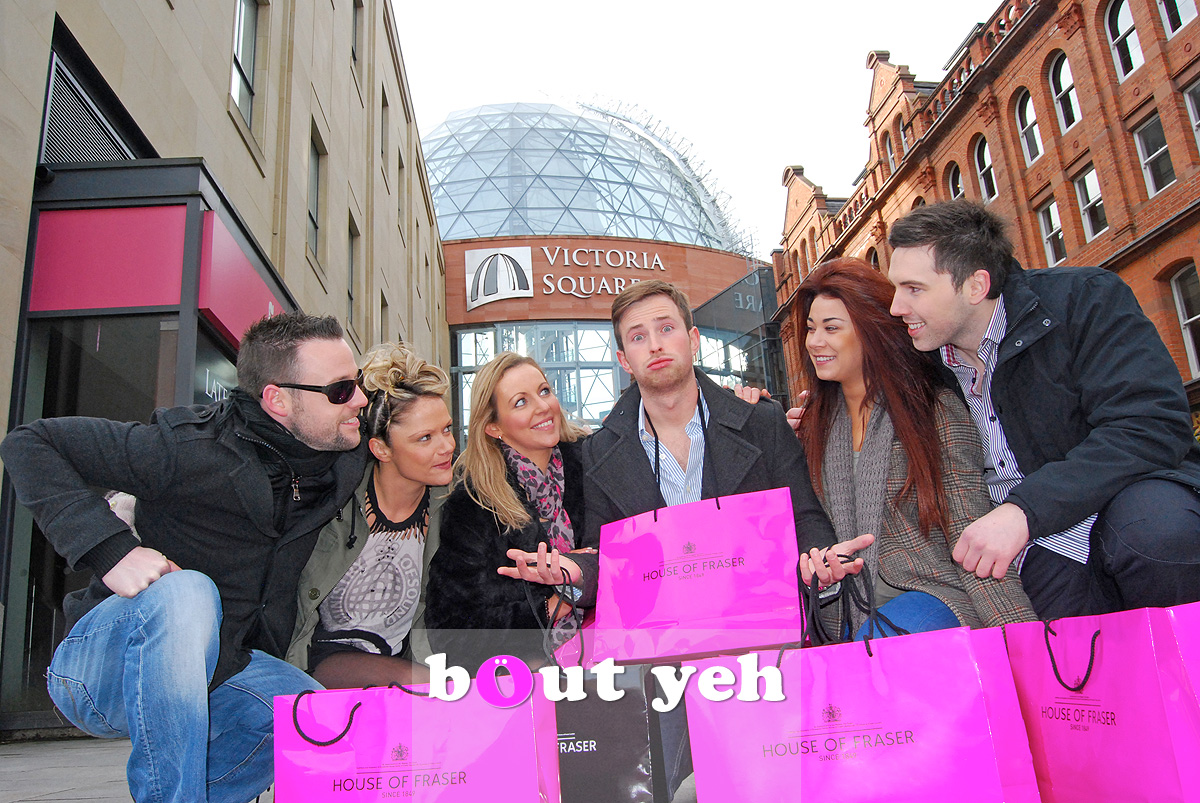 Young adults out on the town at Victoria Square, Belfast. Photo 0050.