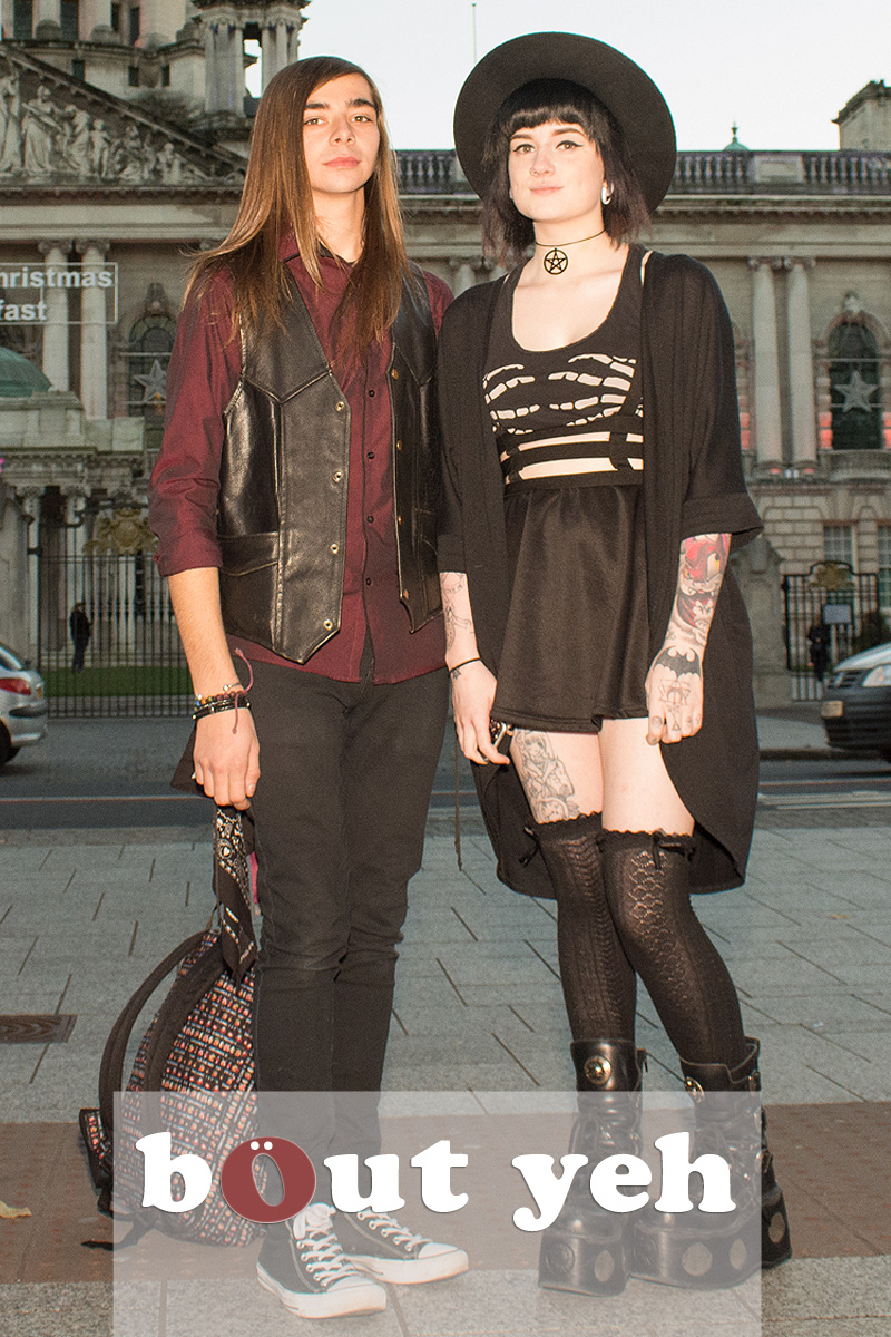 Young goth couple in Belfast. Photo 2560.