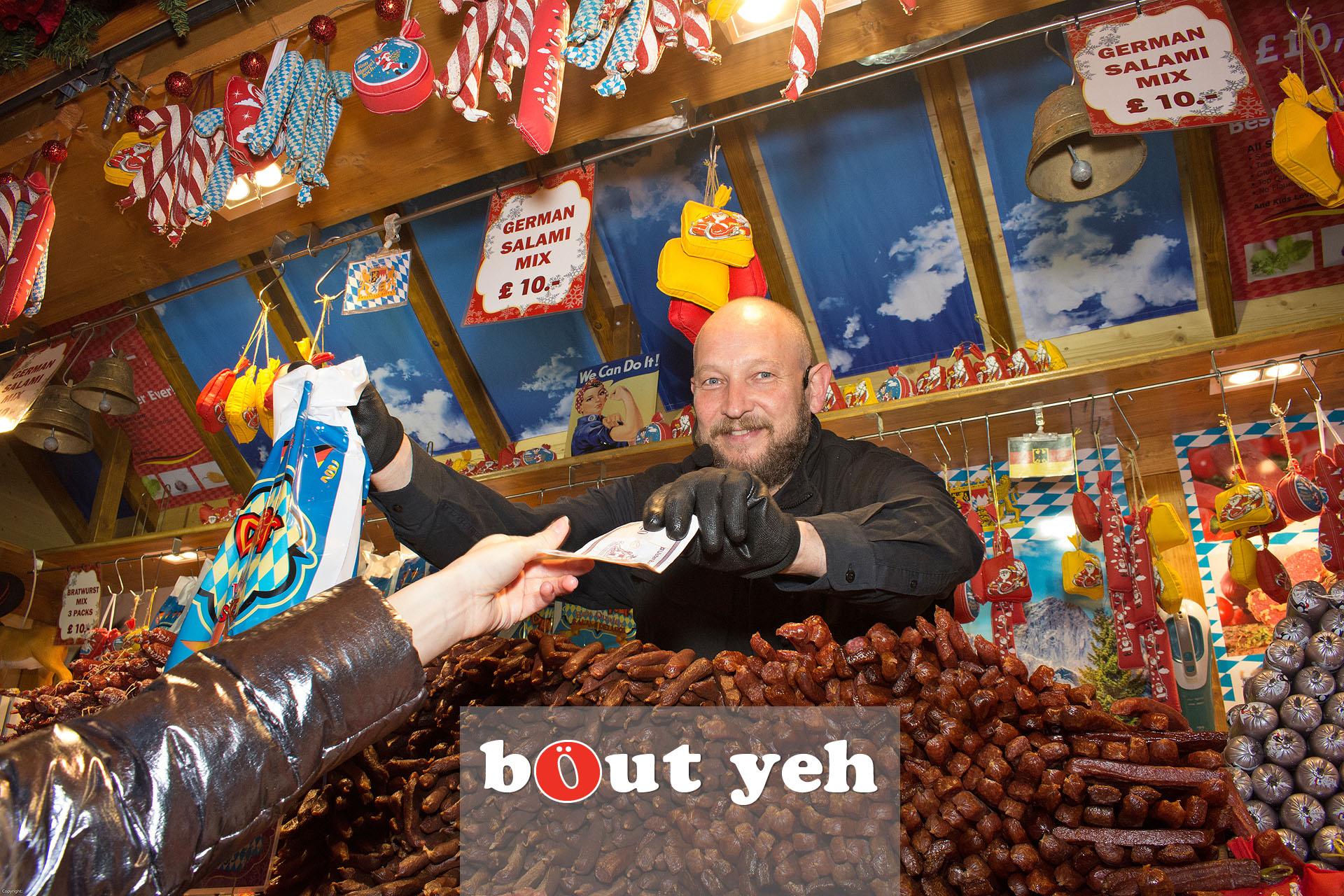 German trader at Belfast Christmas Market in Belfast - bout yeh photographers Belfast photo 3281.