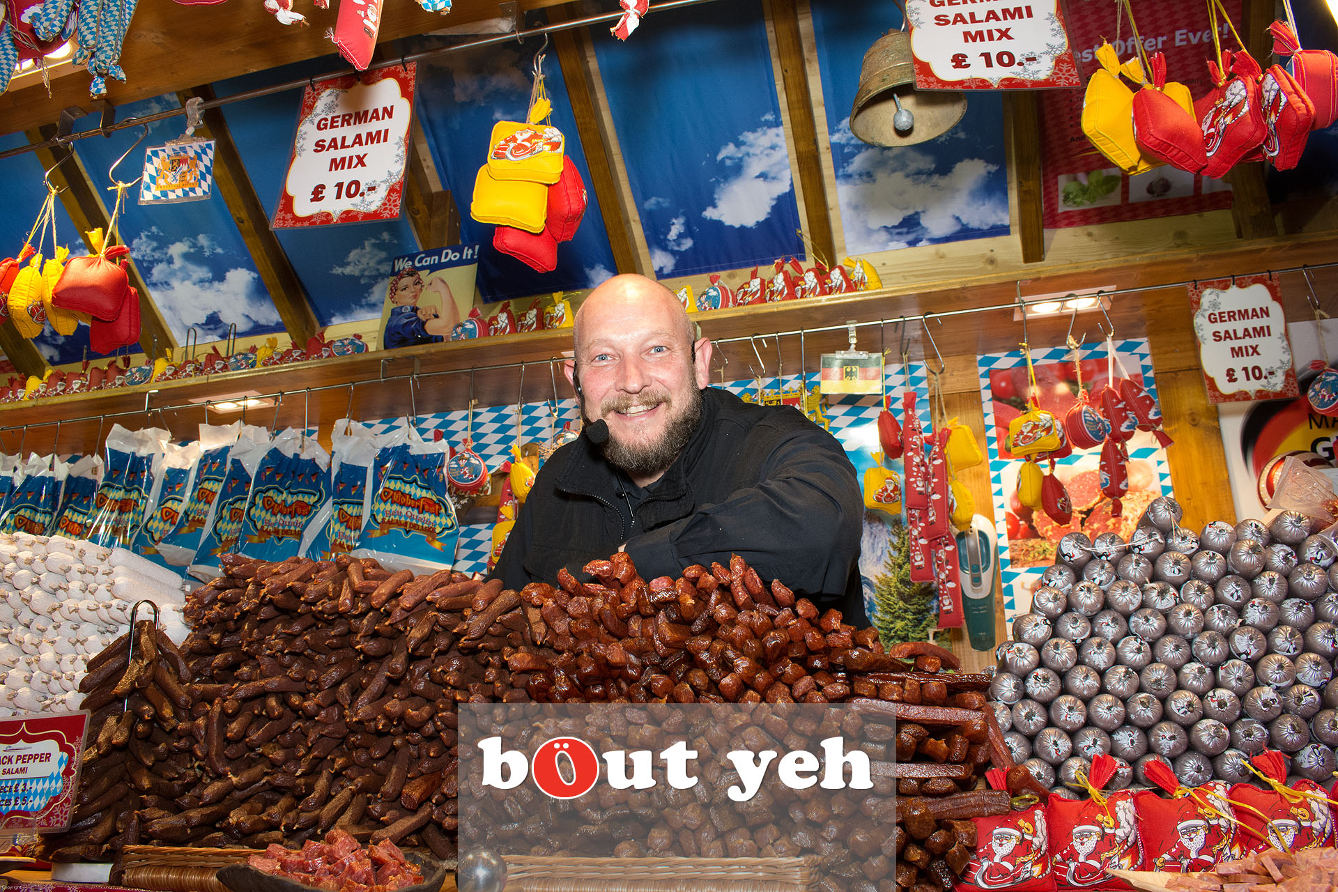 German trader at Belfast Christmas Market in Belfast - bout yeh photographers Belfast photo 3282.