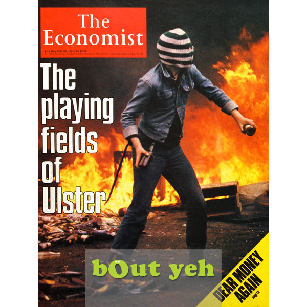 The Economist magazine May 1981 cover photograph by lifestyle photographer Stephen S T Bradley - portfolio photo.