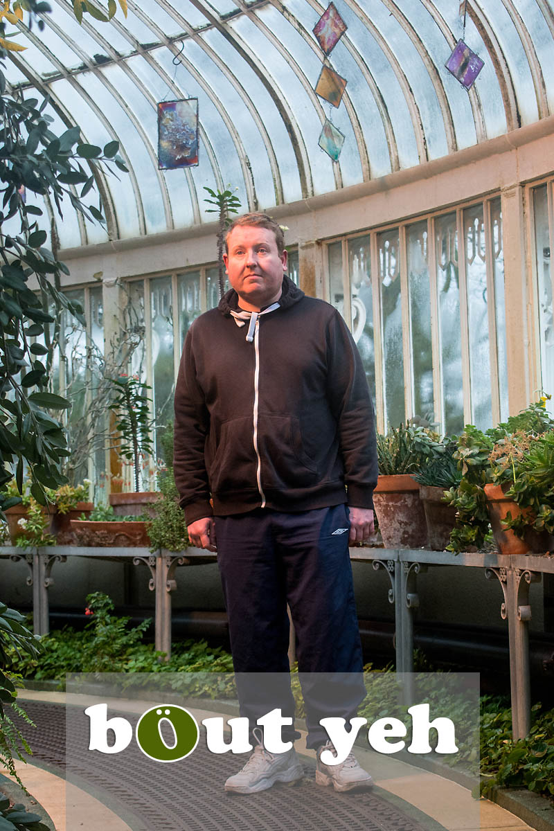 Mike at The Palm House, Botanic Gardens, Belfast - photo 4327.