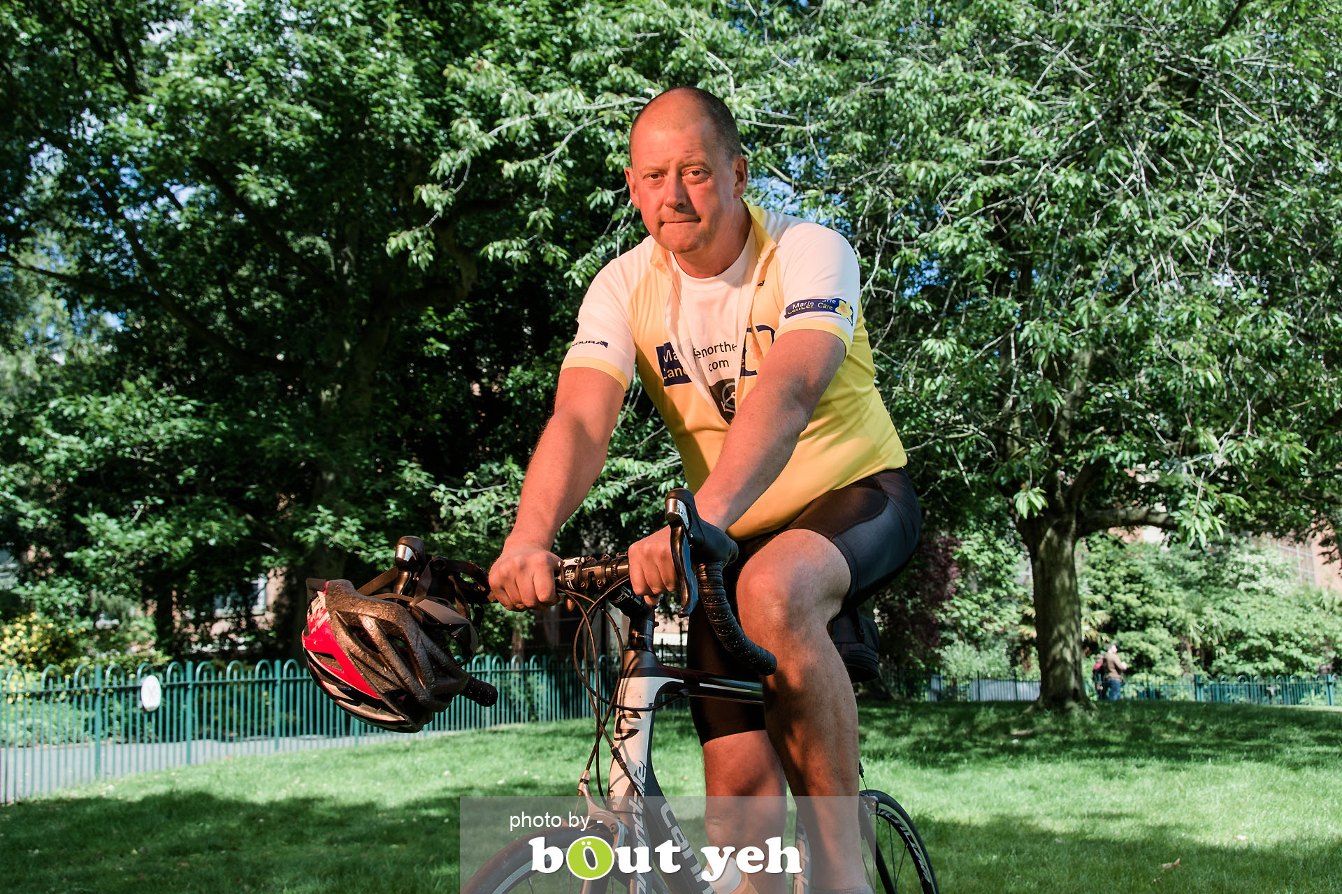 Hugo, of Bed and Bike Cycling Tours, at Botanic Gardens, Belfast, Northern Ireland - photo 7122.
