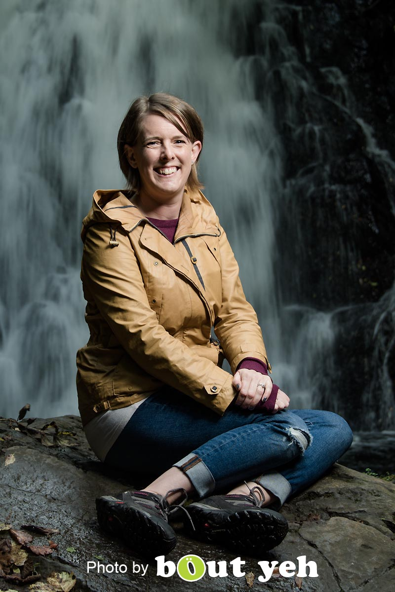 Sian, at Gleno waterfall, Northern Ireland - photo 8989.