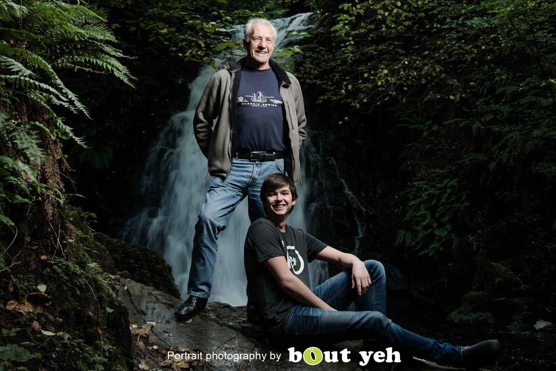 William and William, at Glenoe Waterfall, Northern Ireland - photo 8996.