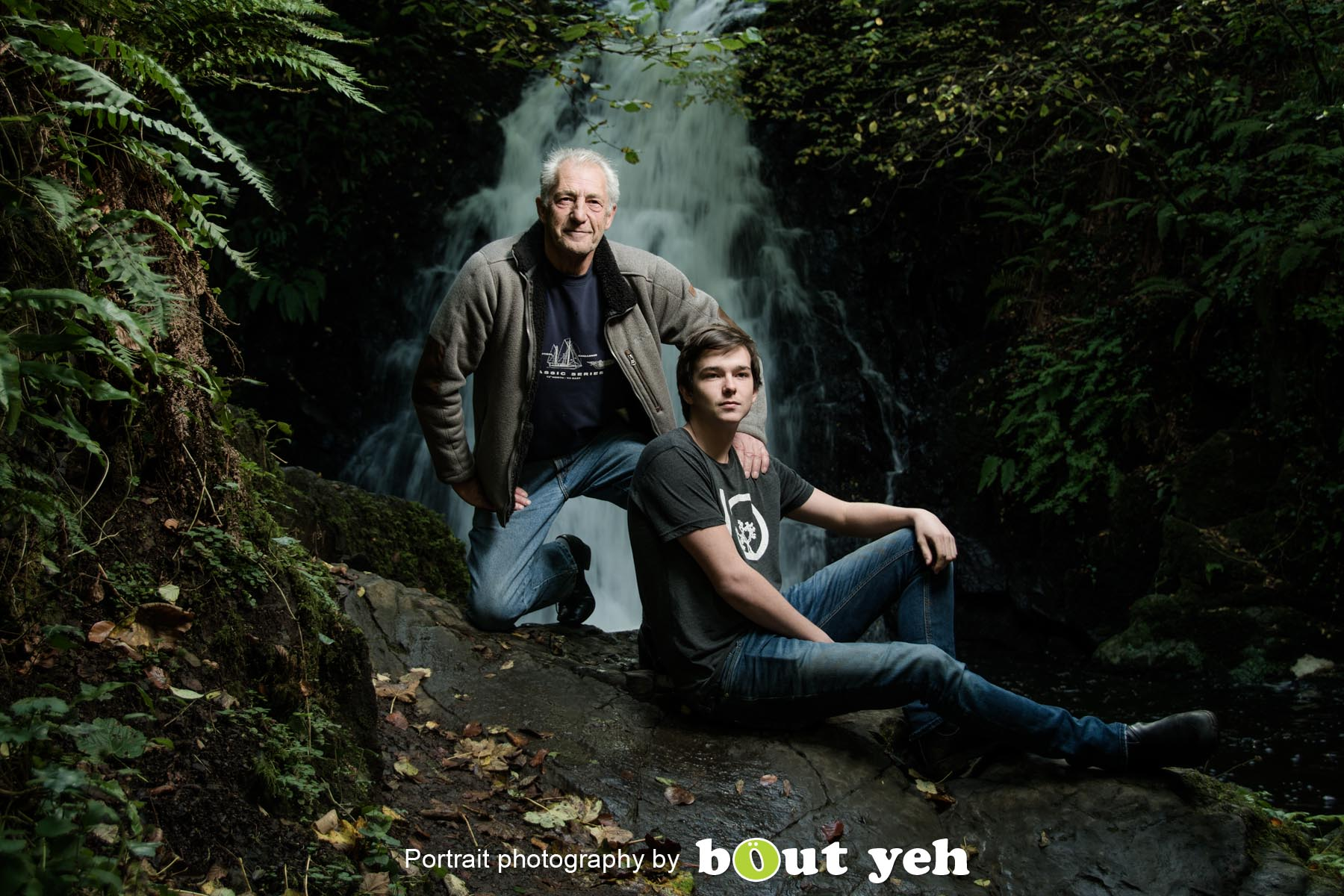 William and William, at Glenoe Waterfall, Northern Ireland - photo 8999.