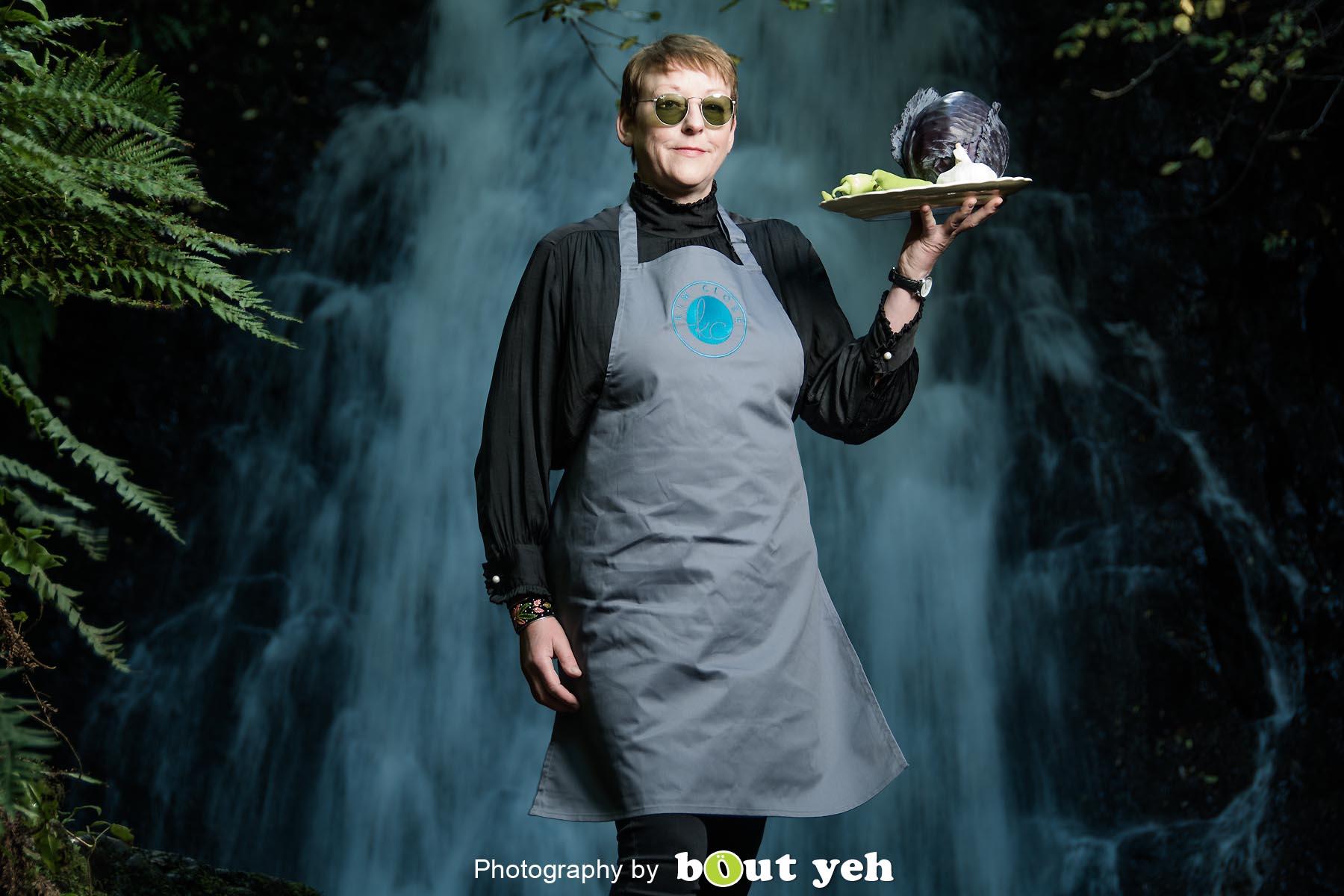 Kim, at Glenoe Waterfall, Northern Ireland - photo 9028.