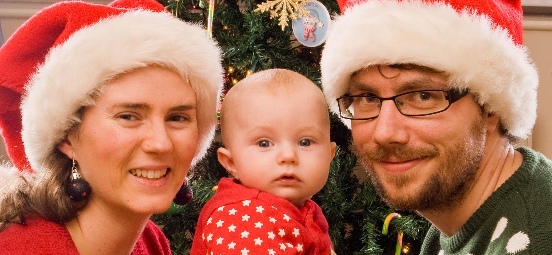 Baby photographer Belfast - Christmas family photography photo