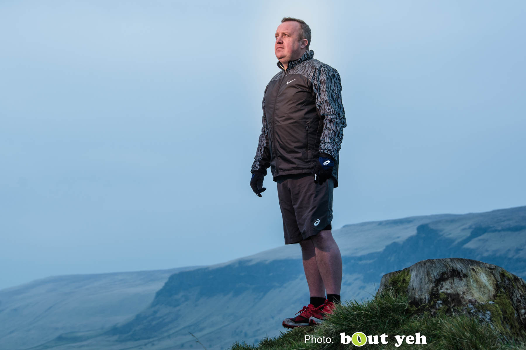 Adrian, of Ballymena Runners, at Glenariff Forest, N. Ireland. Photo 0627.