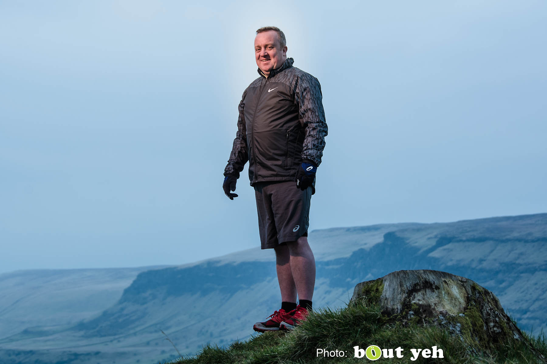 Adrian, of Ballymena Runners, at Glenariff Forest, Northern Ireland. Photo 0630.