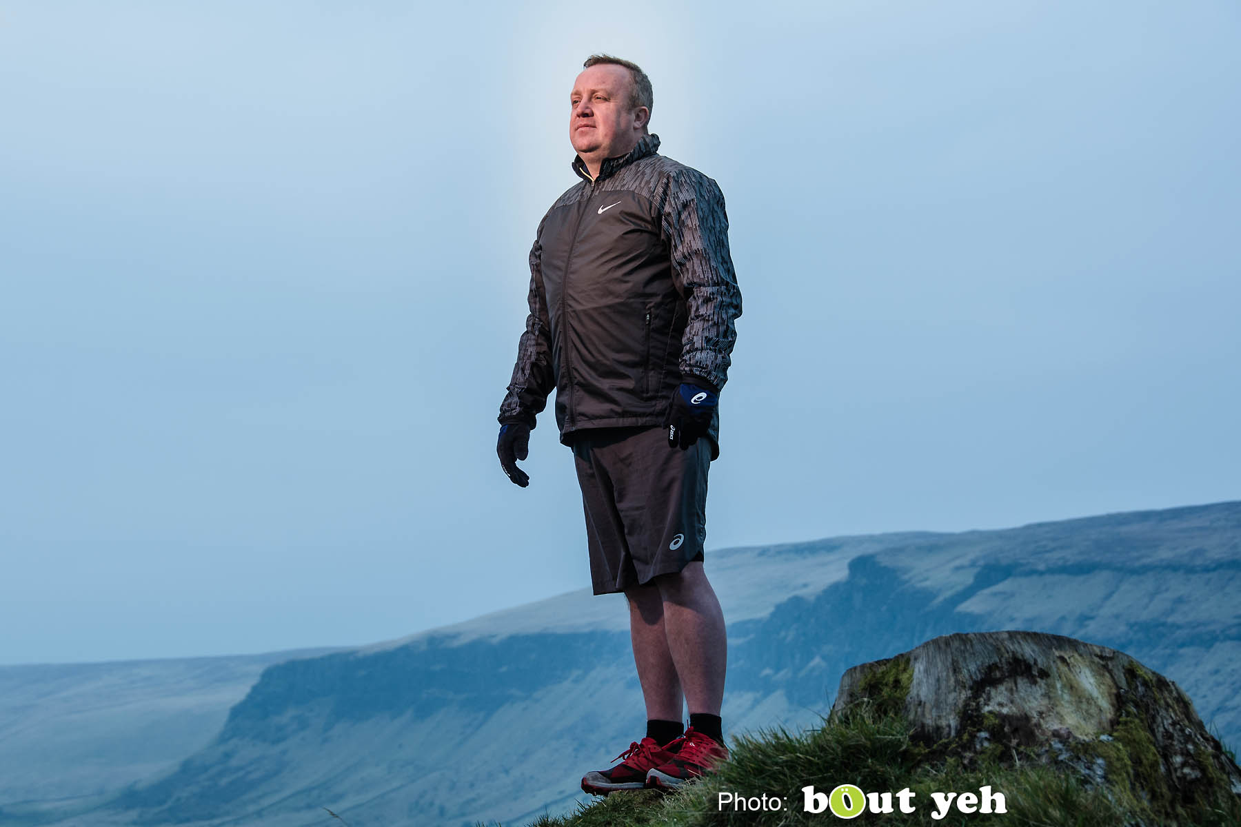 Adrian, of Ballymena Runners, at Glenariff Forest, N. Ireland. Photo 0632.
