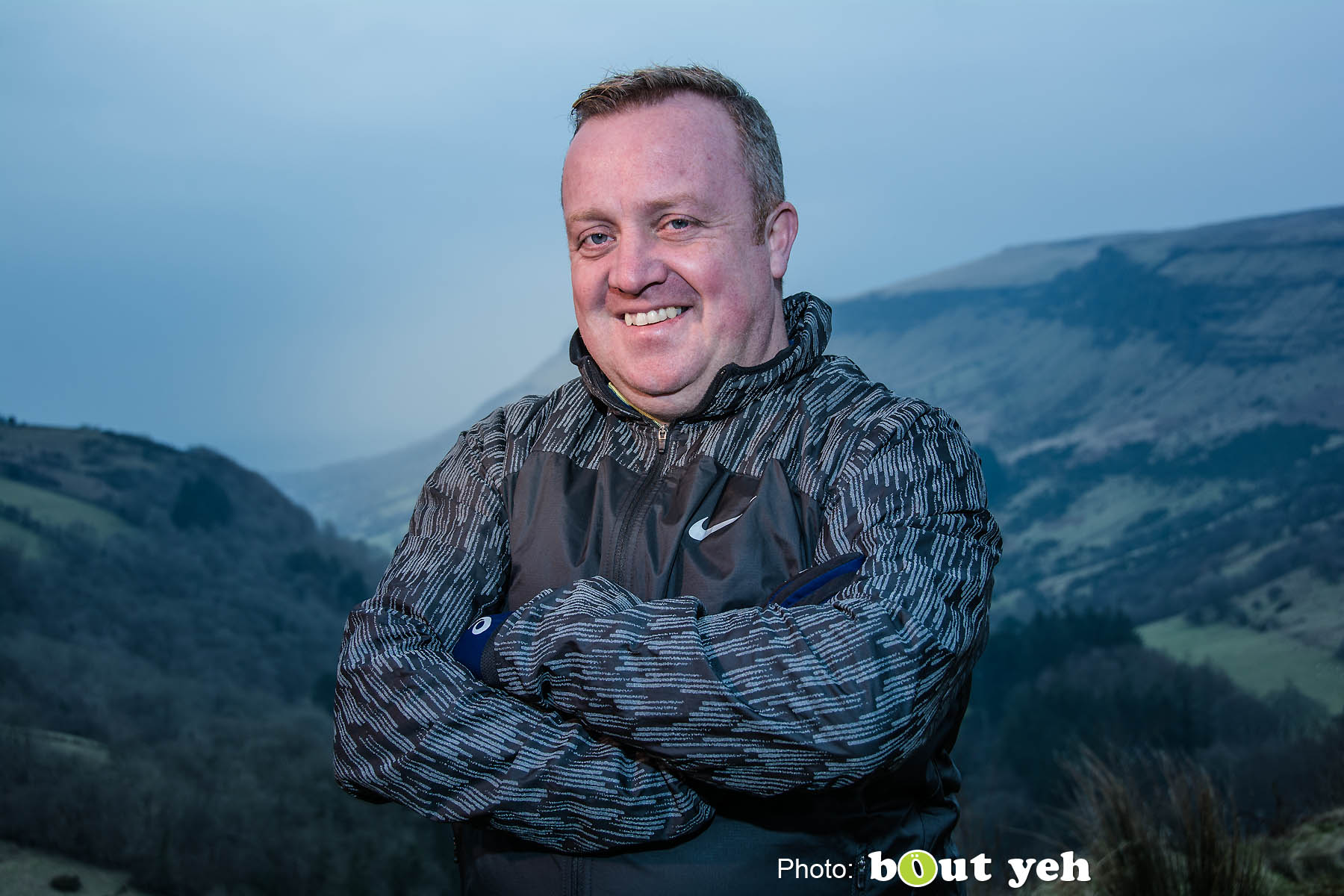 Adrian, of Ballymena Runners, at Glenariff Forest, Northern Ireland. Photo 0641.