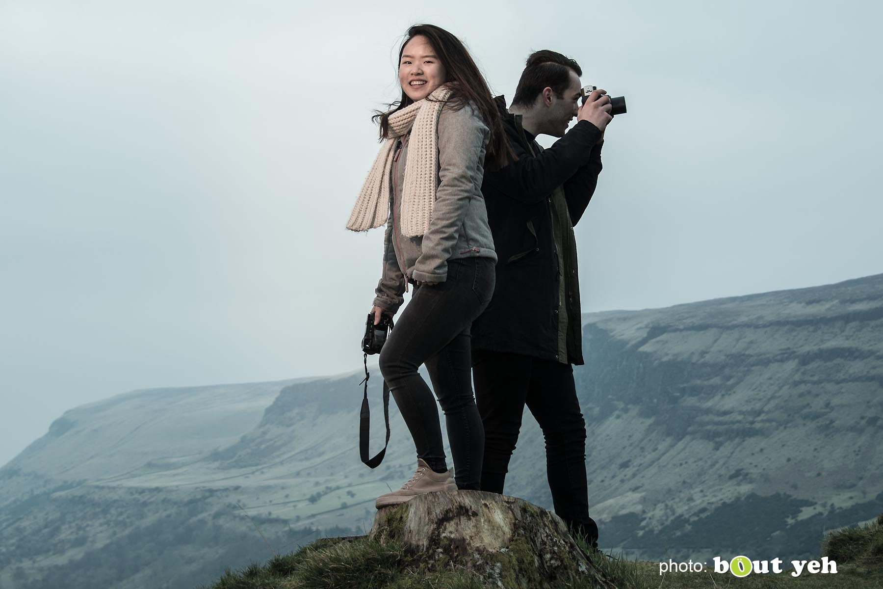 Maikel and Mai-Lin, Glenariff Forest, Northern Ireland. Photo 0647.