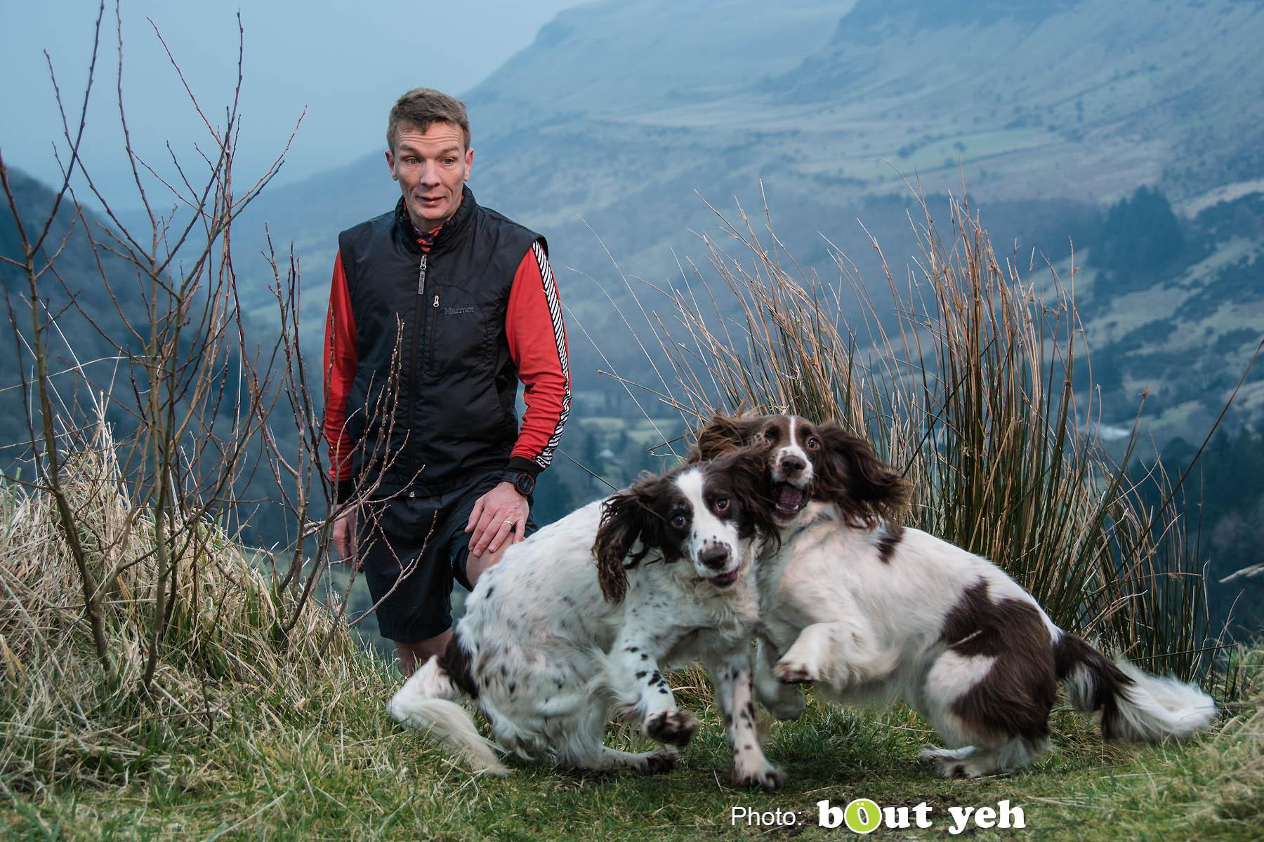 Mark, of Ballymena Runners, at Glenariff Forest, Northern Ireland. Photo 0736.