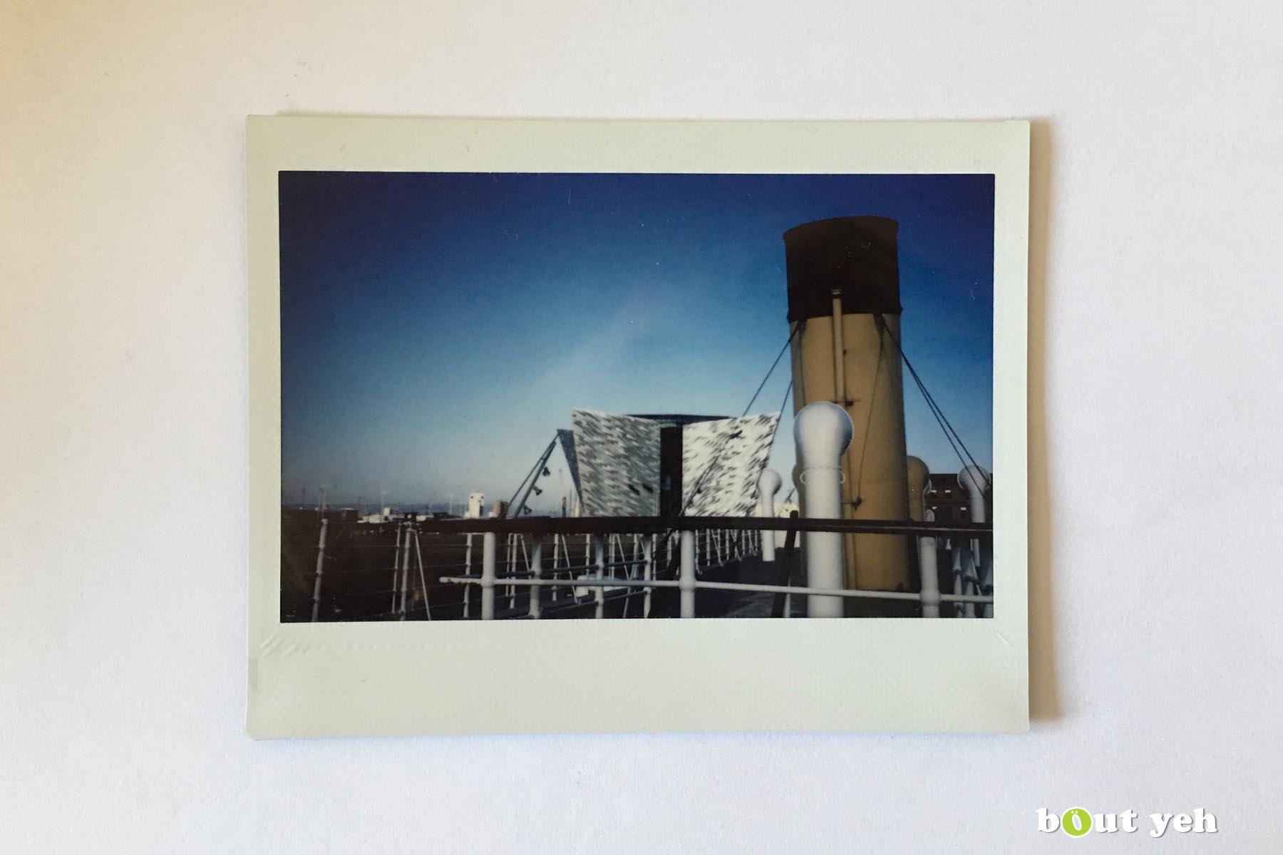 Polaroid photograph of Titanic Museum, Belfast, Northern Ireland, by Maikel. Photo 1241.