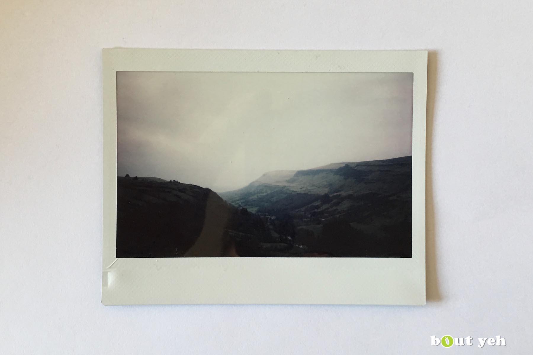 Polaroid photograph of Glenariff, Northern Ireland, by Maikel. Photo 1242.