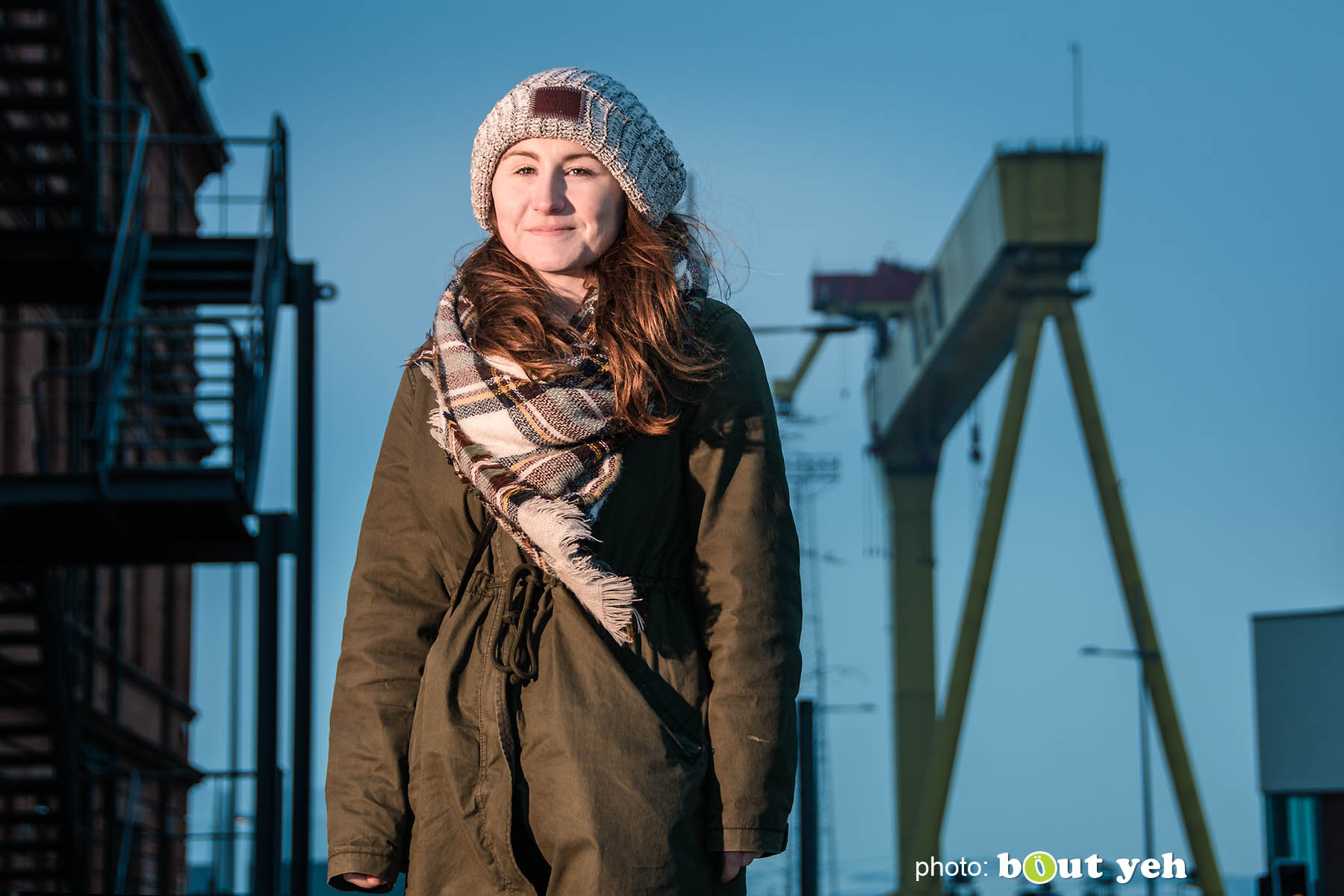 Amy at Titanic Belfast, Northern Ireland. Photo 0810.