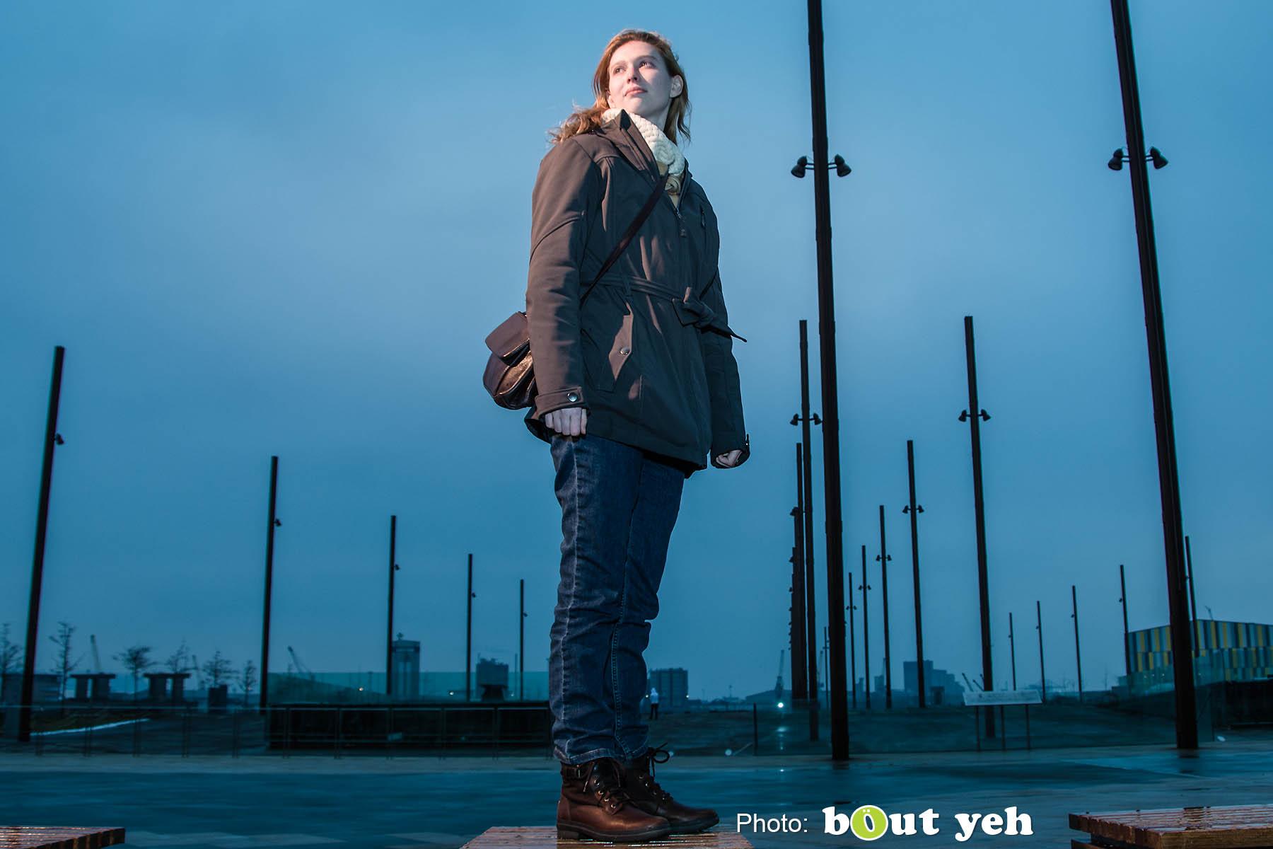Melanie at Titanic Belfast. Photo 0822.