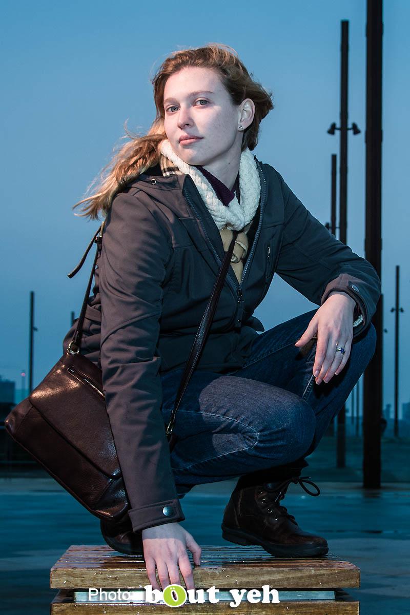 Melanie at Titanic Belfast. Photo 0829.