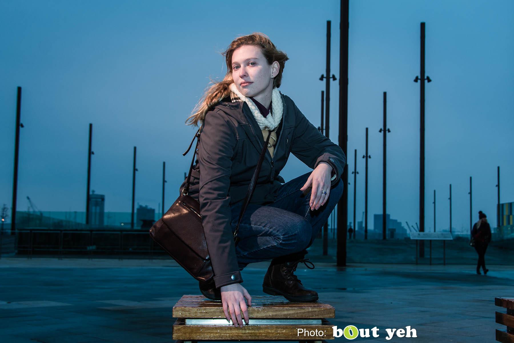 Melanie at Titanic Belfast. Photo 0830.