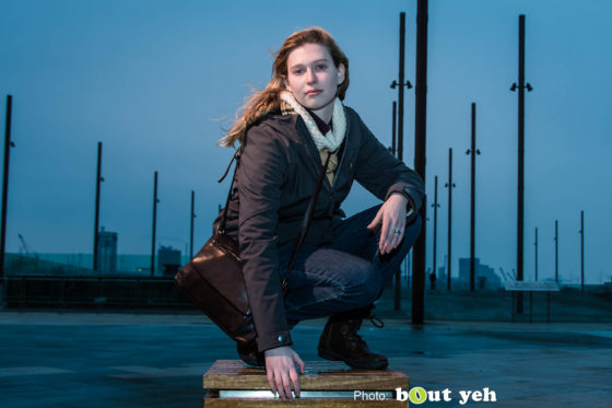 Melanie at Titanic Belfast, by Bout Yeh Photographers Belfast. Photo 0831.
