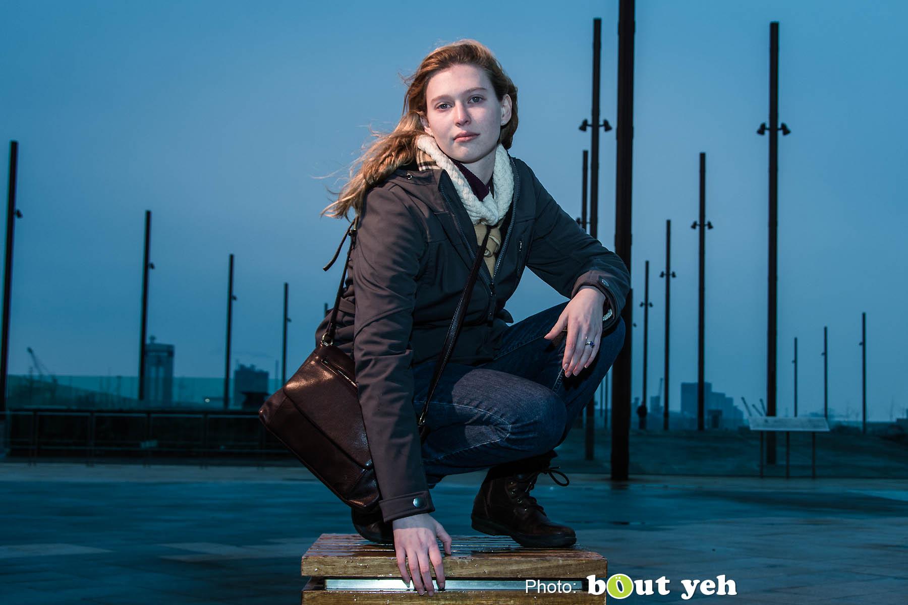 Melanie at Titanic Belfast. Photo 0831.