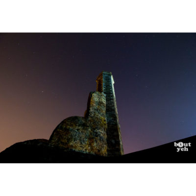 Starry Castle Ruins in Antrim, Northern Ireland - photographic print for sale.