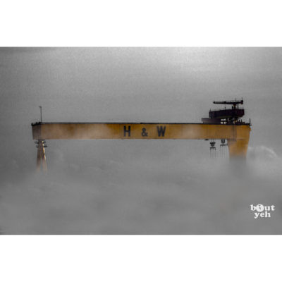 Giants in the Mist, Harland and Wolff, Belfast - photographic print for sale.