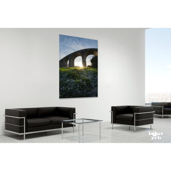 Craigmore Viaduct Northern Ireland by rskb - photographic print in room setting.