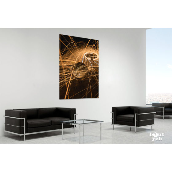 Greyabbey Light Trails Northern Ireland by rskb - photographic print in room setting.