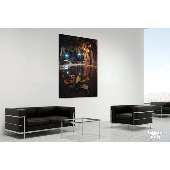 Saint Georges Market Belfast at Night by rskb - photographic print in room setting.