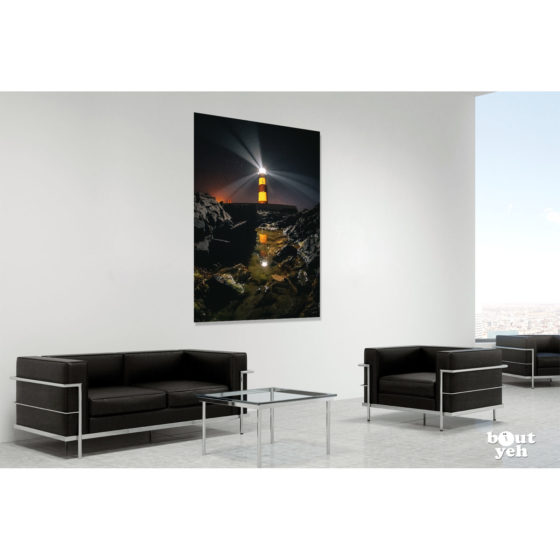 Saint Johns Lighthouse Northern Ireland by rskb - photographic print in room setting.